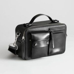 & Other Stories Utility Leather Crossbody Bag